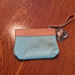 Roots Turquoise Wristlet